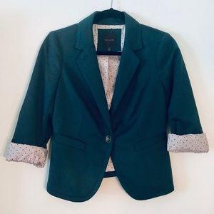 The Limited | Hunter Green Contrast Liner Blazer